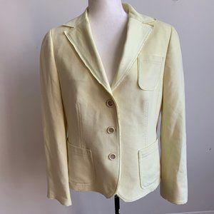 Akris Punto Yellow jacket Sz 12 Blazer wool angora